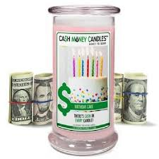 new cash money candles from jewelry