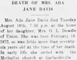 Ada Davis - Newspapers.com