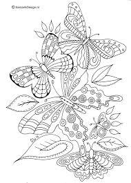 Kleurplaat Voor Volwassenen Butterflies Kleurplaten Mandala