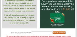 nebraska furniture mart customer survey