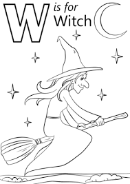 free printable witch coloring pages for