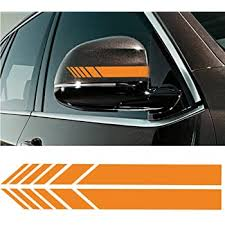 Amazon Com Sticker Connection Fender Stripes Hash Marks Vinyl Decal Universal For Car Truck Sticker Racing Stripe Orange Automotive