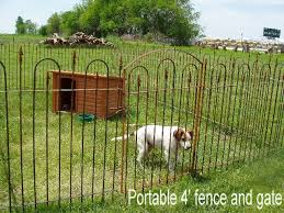 Temporary Dog Pen Pets In 3 Or 4 Tall Fencing