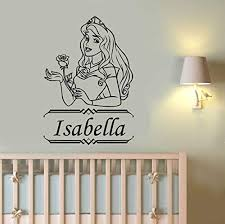 Amazon Com Custom Name Princess Aurora Wall Decal Disney Vinyl Sticker Sleeping Beauty Art Decorations For Home Girl S Room Kitchen Dining