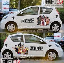 Itasha 2 Pieces Anime One Piece Car Stickers Monkey D Luffy Import It All