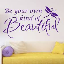 Girl Bedroom Decal Be Beautiful Quote Vinyl Wall Lettering