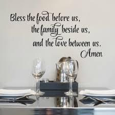 Bless The Food Before Us Wall Decal Dinner Prayer Vinyl Written