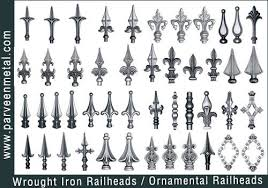Wrought Iron Railheads Jpg 500 350 Wrought Iron Gate Designs Wrought Iron Fences Wrought Iron