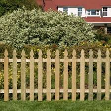 3 5 Ft X 8 Ft Pressure Treated French Gothic Space Picket Fence Panel Fsfg4245814 The Home Depot Backyard Fences Rustic Fence Picket Fence Panels