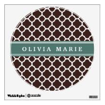 Brown Moroccan Wall Decals Stickers Zazzle