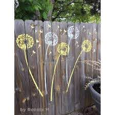 Dandelion Wall Stencil Wall Art Stencil Instead Of Decals Easy To Use Wall Stencils For A Quick Room Update Floral Stencils For Walls In 2020 Garden Fence Art