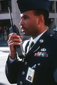 MASTER SGT. Alvin Smith, non-commissioned officer in charge of the  dispersal team, makes a last