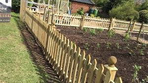 Pretty Picket Fence For Vegetable Garden In Blofield
