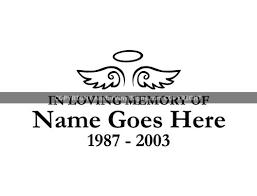 Simple In Loving Memory Of Wings Halo Angel Memorial Vinyl Window Decals In Loving Memory Of Car Truck Stickers