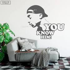 Stizzy Wall Decal Hip Hop Singer Tupac Vinyl Wall Sticker Poster Boys Bedroom Quotes You Know Him Art Removable Home Decor B311 Wall Stickers Aliexpress