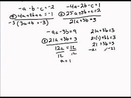 finding quadratic function given three