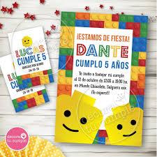 Kit Imprimible Lego Invitaciones Candybar Cumpleanos 430 00 En