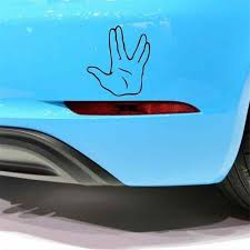 Funny Star Trek Hand Car Sticker Car Truck Window Body Decal Auto Decoration Parts Buy At A Low Prices On Joom E Commerce Platform