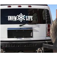 Snow Life 1 Vinyl Sticker Decal 6x17 Car Sticker Snow Ski Snowboard Mobile C537 Walmart Com Walmart Com