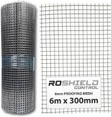 Roshield Rodent Proofing Wire Metal Mesh 6m X 300mm Stop Prevent Rat Mouse Access Amazon Co Uk Garden Outdoors