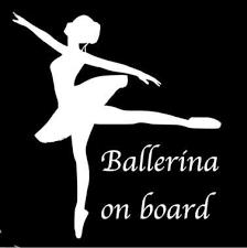 Car Window Decals Ballerina On Board Vinyl Car Window Decal Etsy In 2020 Window Decals Car Window Decals Car Window