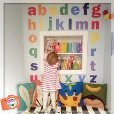 Alphabet Wall Decals Nursery Wall Decal Rainbow Decals Abc Etsy
