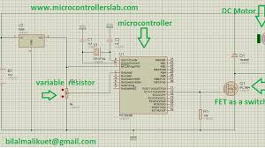 dc motor sd control using pic