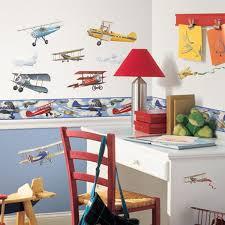 wallpaper border boys nursery planes