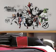 Avengers Assemble Black White Graphic Peel Stick Wall Decals Wall Decal Allposters Com