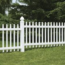 Freedom Pre Assembled Newport 3 Ft H X 8 Ft W White Vinyl Gothic Fence Panel In The Vinyl Fence Panels Department At Lowes Com