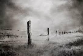 Barbed Wire Fence Drawing By Prateek Sabharwal