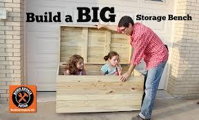 build a big outdoor storage bench