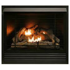 24 inch logs propane nat gas fireplace