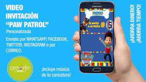Invitacion Paw Patrol Video Invitacion Invitacion Digital