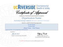 food permit request environmental