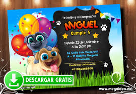 Invitacion De Cumpleanos Puppy Dog Pals Mega Idea