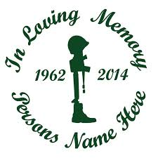 In Memory Of A Lost Soldier Car Decal Sunburst Reflections