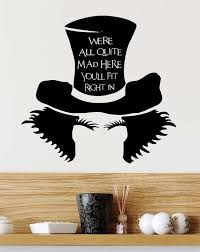 We Re All Quite Mad Here You Ll Fit Right In Mad Etsy Inspirational Wall Art Alice In Wonderland Alice And Wonderland Quotes