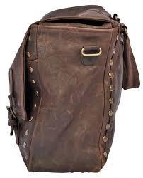 vintage style brown leather bag
