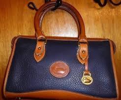 vintage dooney bourke navy blue all
