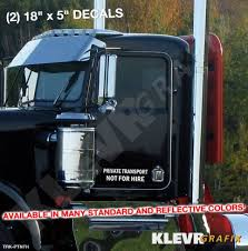 Pair Private Transport Not For Hire Decal Graphics 18 X 5 Semi Trucks Stickers Ebay