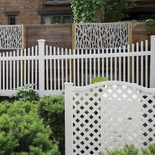 Freedom Ready To Assemble Keswick Scallop 4 Ft H X 8 Ft W White Vinyl Scallop Fence Panel In The Vinyl Fence Panels Department At Lowes Com