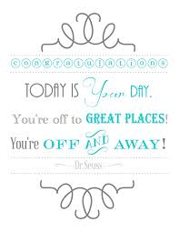 blissful roots dr seuss graduation printable