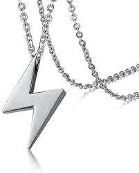 jewelry stainless steel lightning bolt