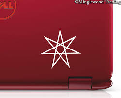 2x Setogram Faery Star 2 5 Vinyl Decal Stickers Magick Septogram Fairy Elven Minglewood Trading