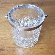 cristal d arques cut glass ice bucket