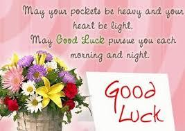 Wishing students good luck
