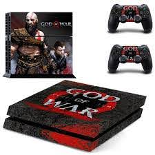 God Of War Ps4 Skin Sticker Cover For Sony Ps4 And 2 Controller Decal
