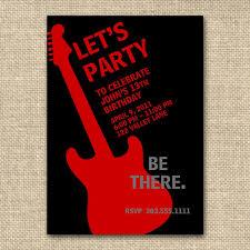 Rock N Roll Birthday Boy Invitation13 Or By Fancyshmancynotes