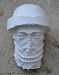 Assyrian Hammurabi Bust Wall Plaque Babylonian Statue Fragment Etsy